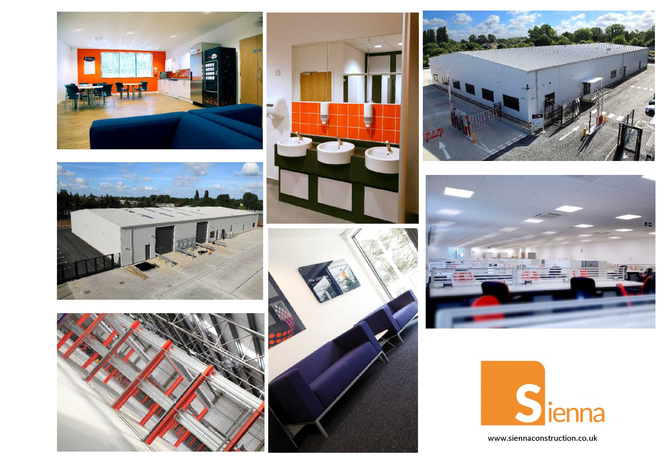 Collage of completion of photos of the new depot