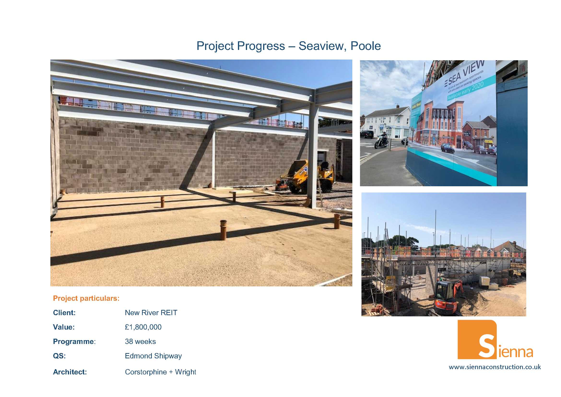 Selection of progress photos showing stellwork