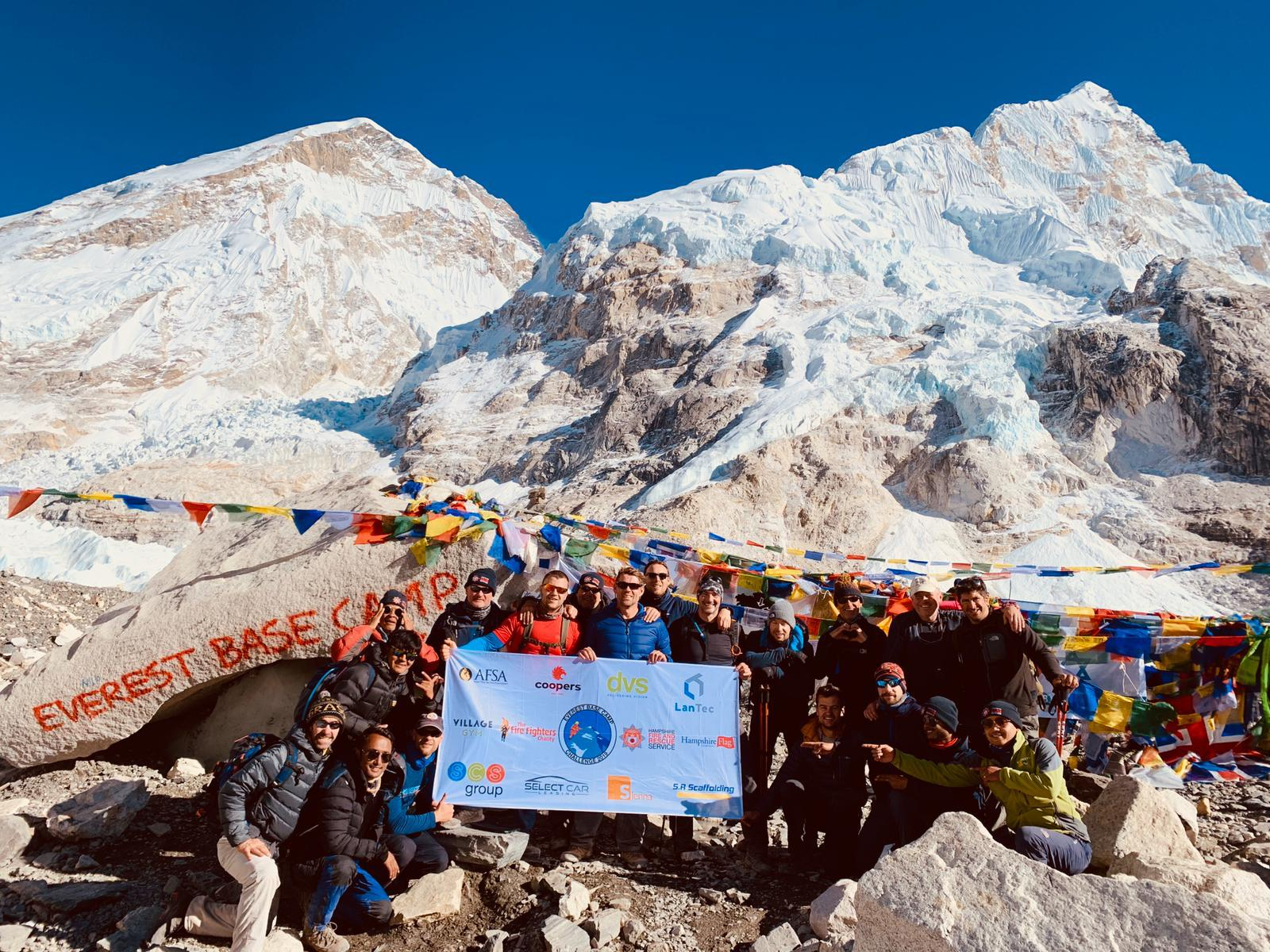 Clients at Mount Everest Base Camp