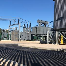 Photo of substation compound