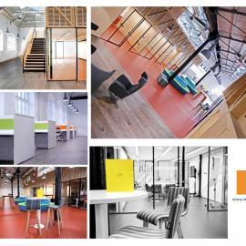Collage of Photos - internal office space