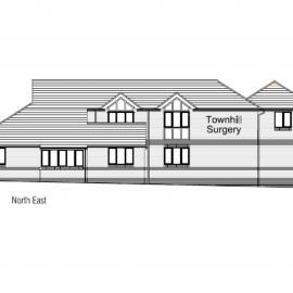 Elevation drawing of Townhill Surgery